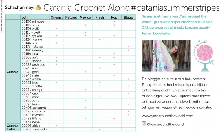 Catania Crochet Along #cataniasummerstripes