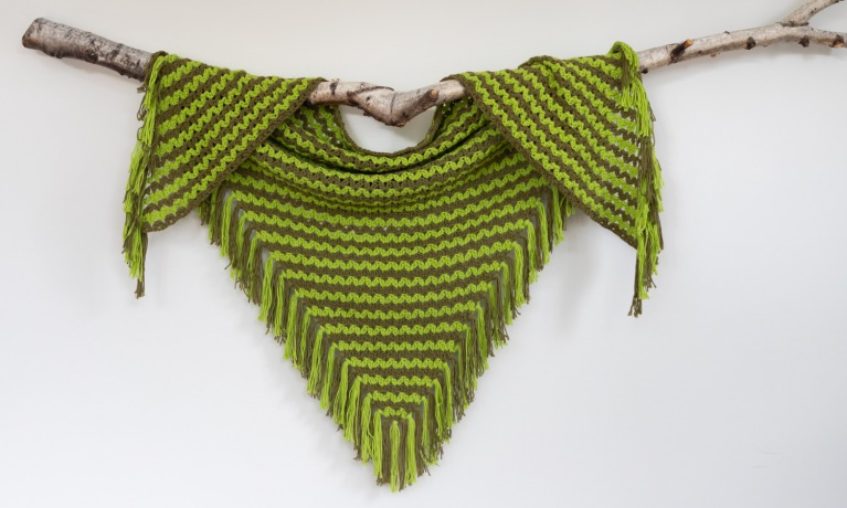 Durable Patroon Cluster V- Stitch Shawl