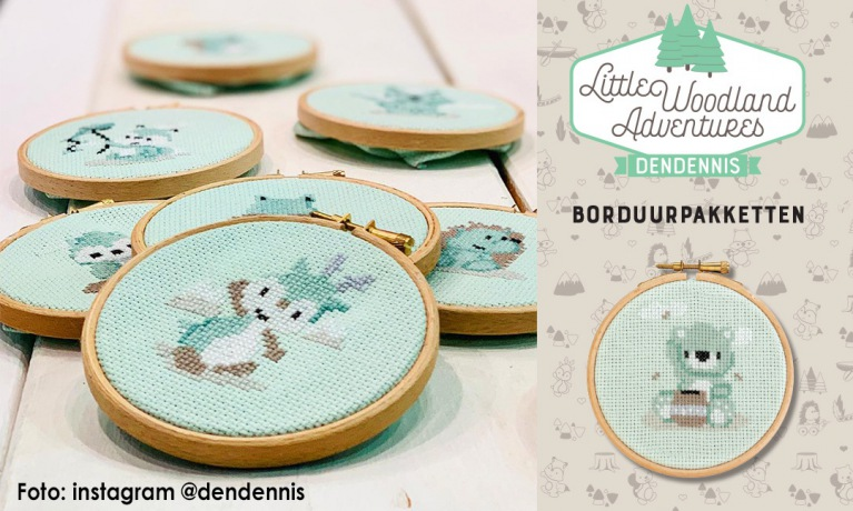 Dendennis borduurpakketten Little Woodland Adventures