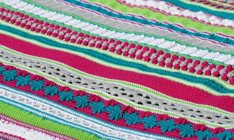 Crochet Along 2017 : De pakketten, garens en gebruikte materialen als de Clover Amour ...